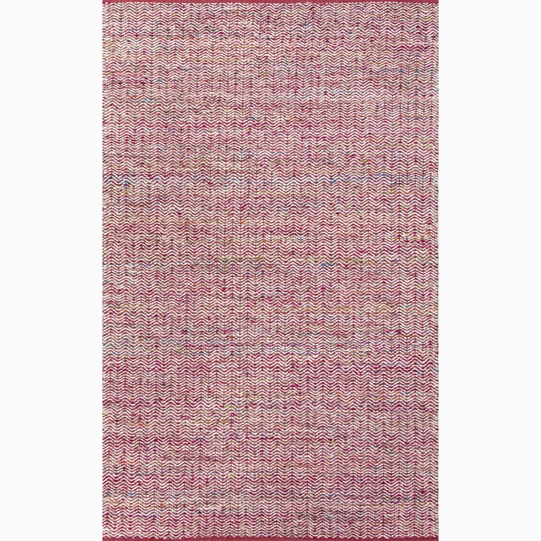 Handmade Pink/ Ivory Wool/ Art Silk Reversible Rug (8 x 10)