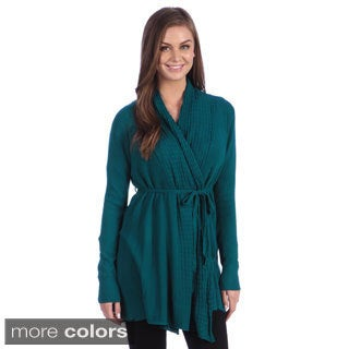 Hadari Women's Ribbed Long Sleeved Cardigan