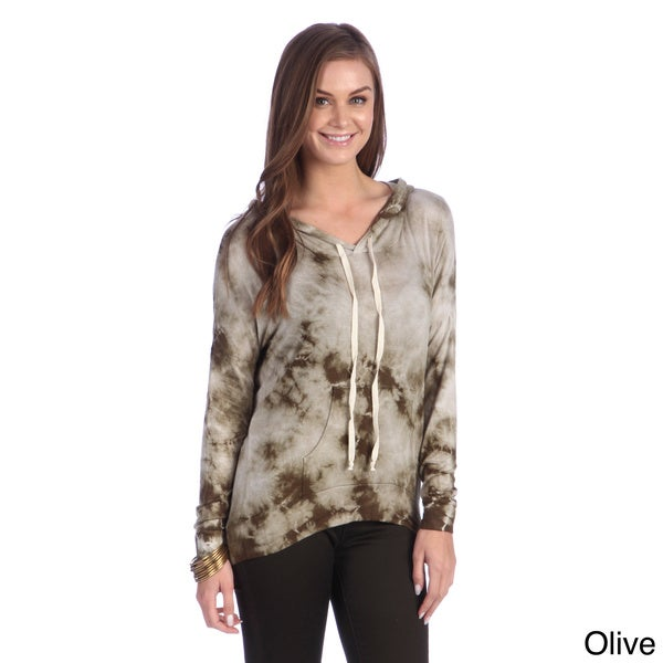 Hadari Women's Brown Tie-dye Casual Fit Hoodie