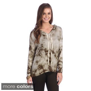 Women's Brown Tie-dye Casual Fit Hoodie
