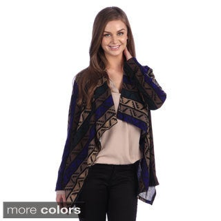 Women's Cascading Tribal Print Cardigan