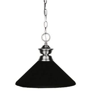 Z-Lite Brushed Nickel/ Matte Black 1-light Pendant