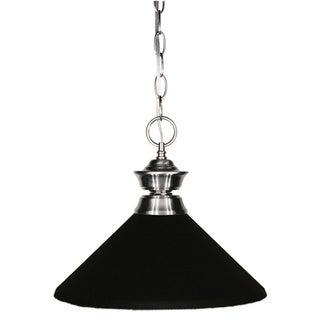 Z-Lite Brushed Nickel/ Matte Black 1-light Pendant