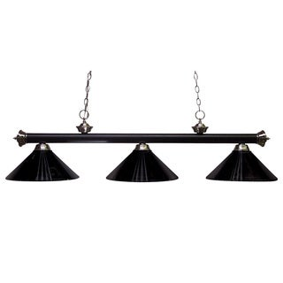 Z-Lite 3-light Matte Black/ Brushed Nickel Billiard Pendant