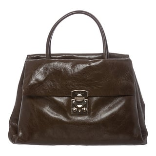 Miu Miu Vitello Shine Leather Tote