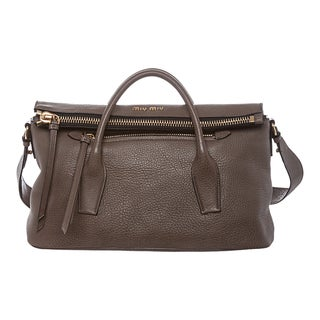 Miu Miu Textured Leather Satchel