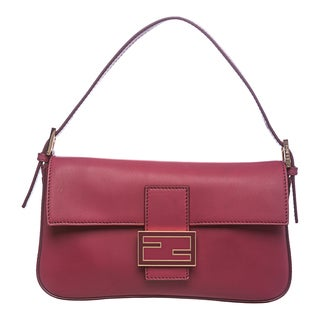 Fendi Leather Baguette with Interchangeable Straps