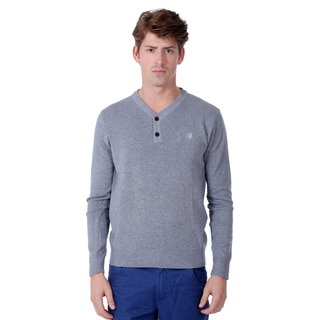 191 Unlimited Men's Solid Button Down Sweater