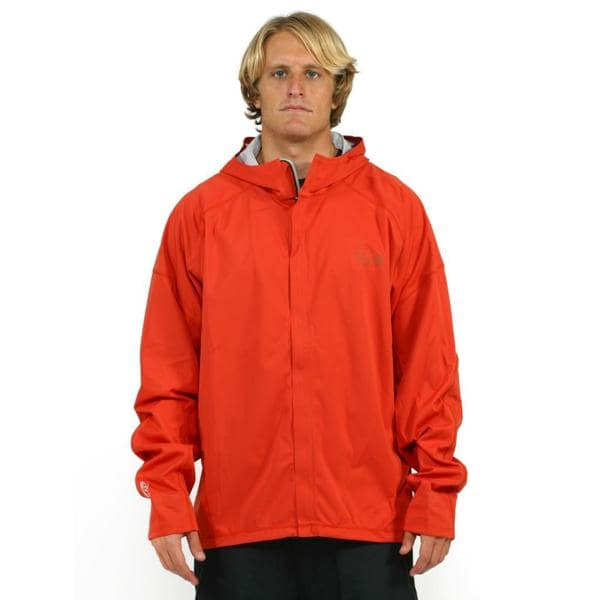 Mountain Hardwear Men's Orange Effusion Hooded Jacket (2X)