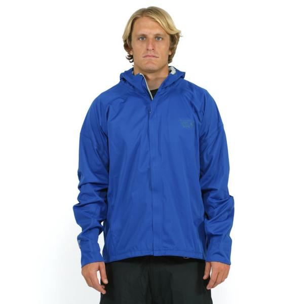 Mountain Hardwear Men's Blue Effusion Hooded Jacket