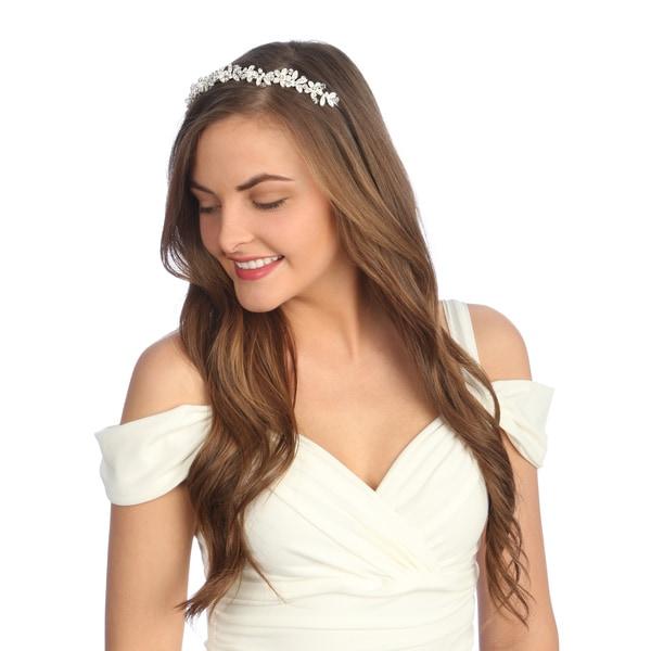 Amour Bridal Rhinestone Floral Headpiece