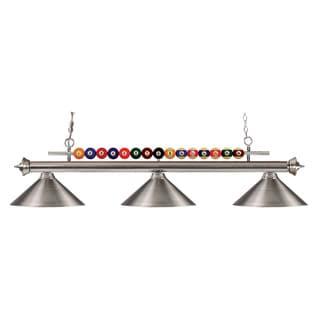Z-Lite 3-light Brushed-nickel Billiard Fixture