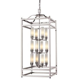 Z-Lite Brushed Nickel Modern Stacked 12-light Chandelier