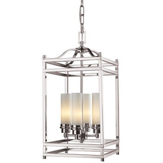 Z-Lite Brushed Nickel Modern 4-light Pendant