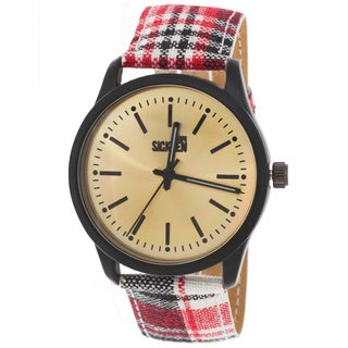 Van Sicklen Men's Plaid Red Watch
