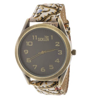 Van Sicklen Men's Paisley Beige Watch