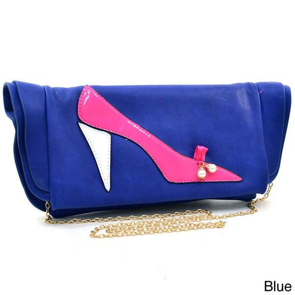 Dasein In My Shoes High Heel Foldover Clutch Purse