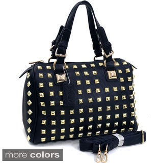 Dasein Studded Barrel Satchel Bag