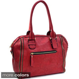 Dasein Zip Lined Shoulder Bag Handbag