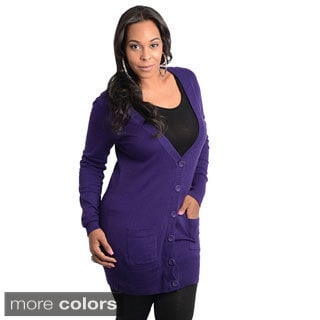 Stanzino Women's Plus Size Button-front Cardigan