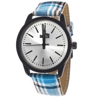 Van Sicklen Men's Plaid Blue Watch