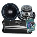 "Lanzar PAIR of VW12D 12"" 1600W Chrome Subwoofers + 2350W Amplifier + AMP Wiring KIT"