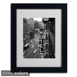 Chris Bliss 'Chelsea Black and White' Framed Matted Art