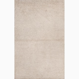 Hand-Made Gray Wool Ultra Plush Rug (8x10)