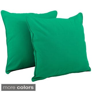 Blazing Needles 25-inch Twill with Cording Throw Pillows (Set of 2)