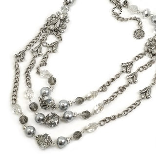 Sweet Romance Triple Strand Necklace