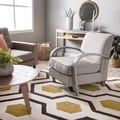Bloomington Beige Linen Arm Chair