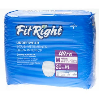 Medline Fit Right Ultra Protective Underwear (80 Count)