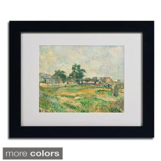 Paul Cezanne 'Landscape Near Paris 1876' Framed Matted Art
