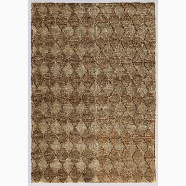 Handmade Taupe/ Ivory Hemp Eco-friendly Rug (5 x 8)