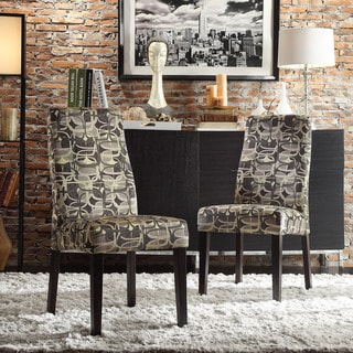 INSPIRE Q Marcey Mod Geometric Wave Back Dining Chair (Set of 2)