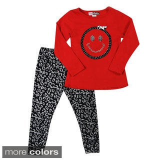 Happy Face Girl Two Piece Set