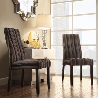 Inspire Q Kiess Coarse Stripe Wave Back Parson Chairs (Set of 2)