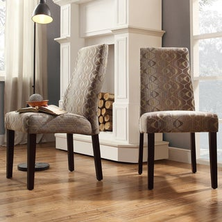 INSPIRE Q Marcey Oval Chain Wave Back Dining Chair (Set of 2)