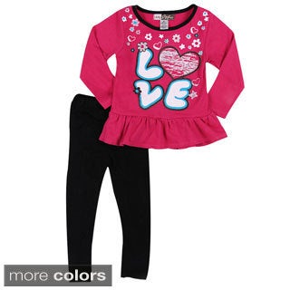 Girls Love Hearts Two Piece Set