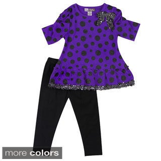 Girls Stylish Dots Two Piece Set