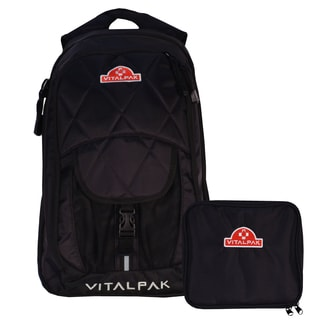 VitalPak Medical Backpack with Removable Snap-in Essentials Kit (Black)
