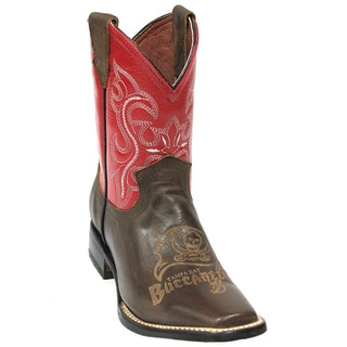 Kids Tampa Bay Buccaneers Leather Western Boots