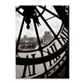 Michael de Guzman 'Big Clock' Canvas Art