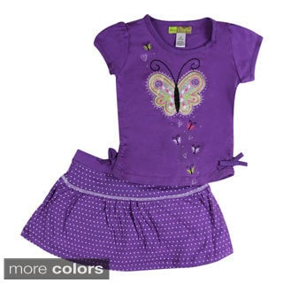 Girls Glitter Butterfly Two Piece Set
