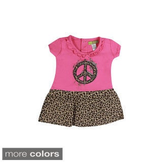 Girls Toddler Leopard Peace Dress