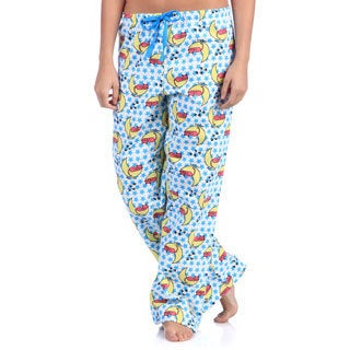 Leisureland Women's Sleepy Kitty Cotton Flannel Sleep Pants
