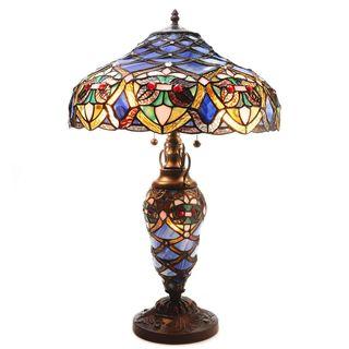Arielle Double Lite Blue Table Lamp