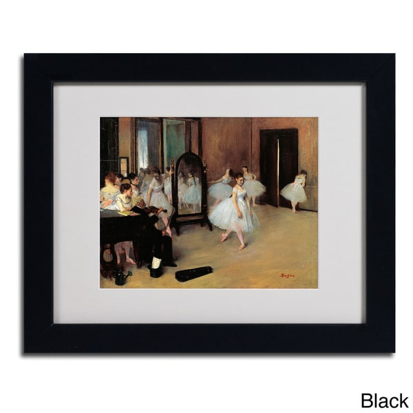 Edgar Degas 'The School of Dance 1871' Framed Matted Art