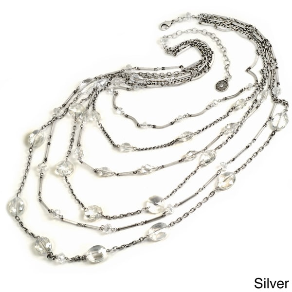 Sweet Romance Ripple of Crystal Multi-strand Necklace