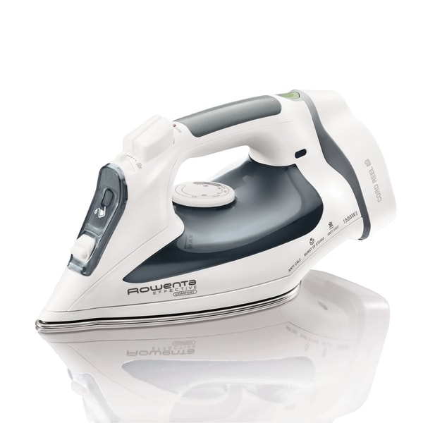 Rowenta DW2090 White/Grey 1500-Watts Effective Comfort Auto-Off/Cord-Reel Steam Iron